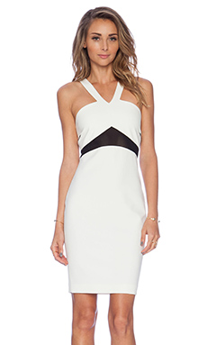 Elizabeth and James Brinley Dress in Ivory & Black