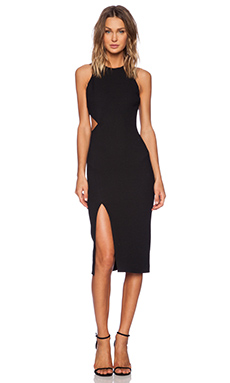 Elizabeth and James Giulia Dress in Black