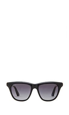 Elizabeth and James Talbert Sunglasses in Shiny Black