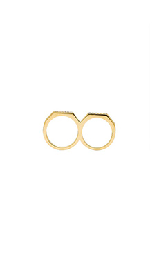 Elizabeth and James Two Finger Artic Ring in Gold
