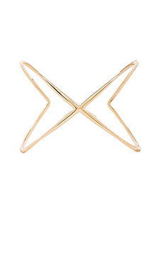 Elizabeth and James Windrose Cuff in Gold