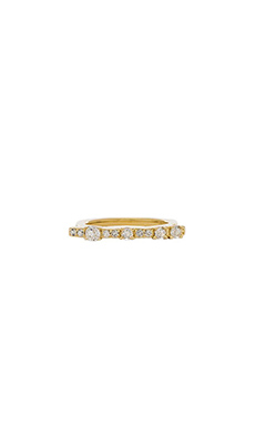 Elizabeth and James Twiggy Ring in Yellow Gold & White Topaz