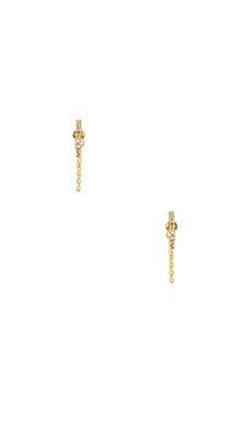 Elizabeth and James Kiki Stud Earring in Yellow Gold & White Topaz