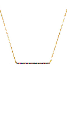 Elizabeth and James Delgado Necklace in Multi Colored Sapphire