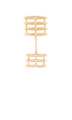 Elizabeth and James Berlin Knuckle Ring in Gold