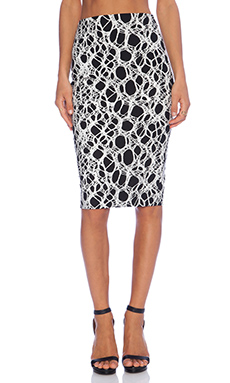 Elizabeth and James Aisling Skirt in Black & Ivory