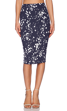 Elizabeth and James Long Rogen Skirt in Navy & Ivory