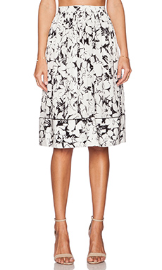 Elizabeth and James Avenue Skirt in Black & Ivory