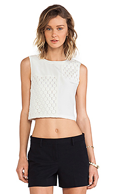Elizabeth and James Vinique Top in White