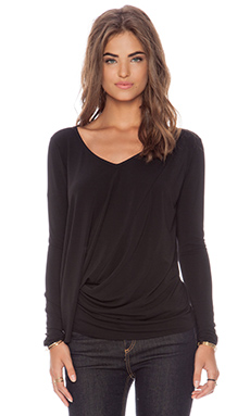 Elizabeth and James Long Sleeve Denver Tee in Black