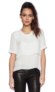 Elizabeth and James Tulsi Top in Ivory
