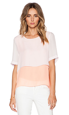 Elizabeth and James Tulsi Top in Neon Peach & Pink Wash