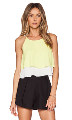 Elizabeth and James Lila Top in Limelight & Ivory