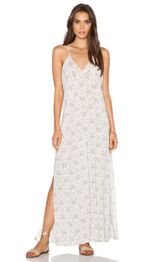 eberjey Sandbar Amara Dress in Ivory & Truffle