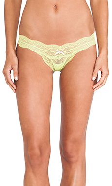 eberjey Thong in Chartreuse