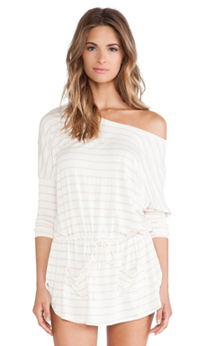 eberjey Lounge Stripe Slouchy Tunic in Shell