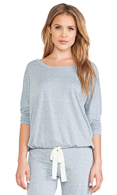 eberjey Heather Slouchy Tee in Blue Shadow