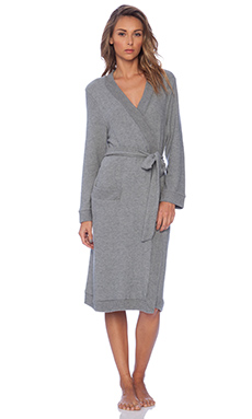 eberjey Cozy Time Robe in Heather Grey