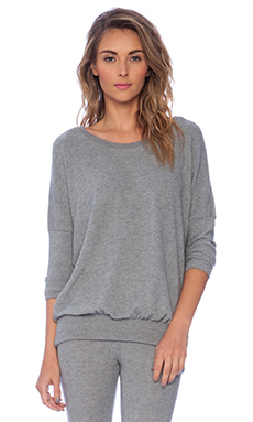 eberjey Cozy Time Slouchy Tee in Heather Grey