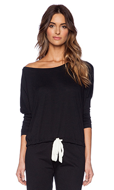 eberjey Heather Slouchy Tee in Black