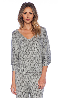 eberjey Starry Eyed Top in Heather Grey & Black