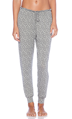 eberjey Starry Eyed Pants in Heather Grey & Black
