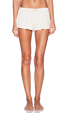 eberjey Open Hearted Shorts in Ivory & Vintage Rose