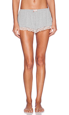 eberjey Quinn Short in Heather Grey