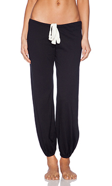 eberjey Heather Cropped Pant in Black