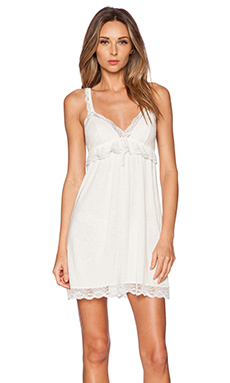 eberjey Something Blue Chemise in Ivory & Something Blue