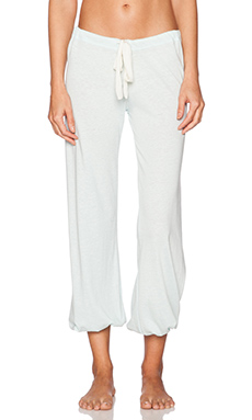 eberjey Heather Cropped Pant in Sky