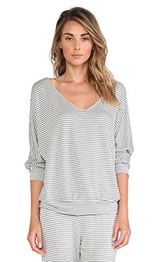 eberjey Sadie Stripes Dolman Sleeve Top in Storm Cloud