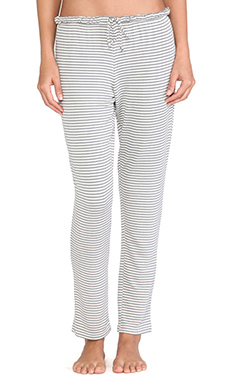 eberjey Sadie Stripes Slim Pant in Storm Cloud