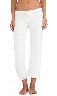 eberjey Heather Cropped Pant in Cloud