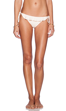 eberjey Solid Willow Bikini Bottom in Shell