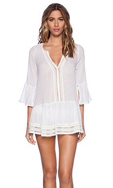 eberjey Love Shack Tessa Cover Up in White