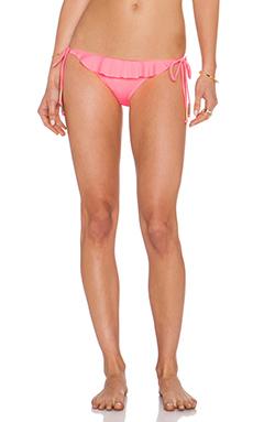 eberjey Solid Willow Bikini Bottom in Pink Flash