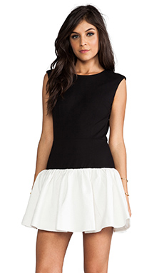 ERIN erin fetherston RUNWAY Hepburn Dress in Black/White