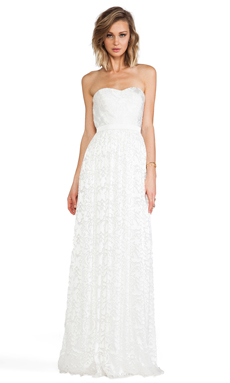 ERIN erin fetherston Hyacinth Gown in Ivory
