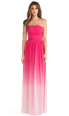 ERIN erin fetherston Isabelle Gown in Vibrant Fuchsia