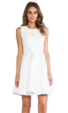 ERIN erin fetherston Daffodil Dress in White & Silver
