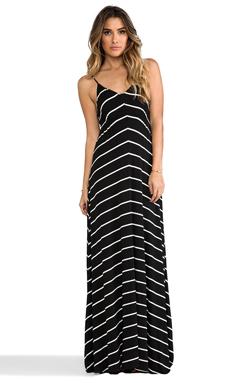 Eight Sixty Stripe Maxi Dress in Black & White