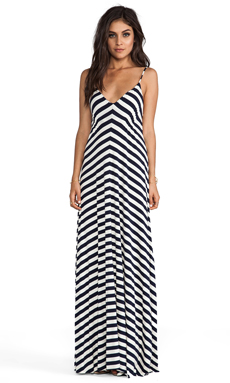 Eight Sixty Stripe Maxi in Navy & Scour
