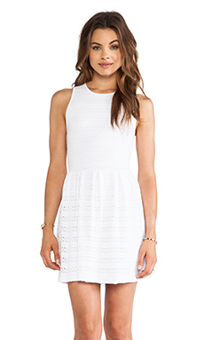 Eight Sixty Cutout Tank Dress in White