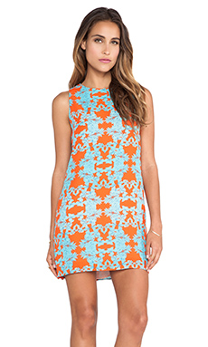 Eight Sixty Ohana Dress in Orange & Blue