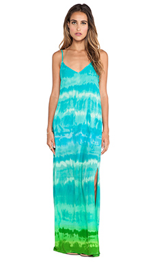 Eight Sixty Moon River Maxi Dress in Blue & Green