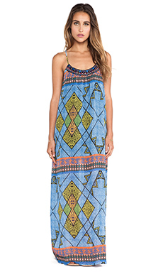 Eight Sixty Maxi Dress in Blue & Multi