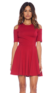 Eight Sixty Cold Shoulder Dress in Red