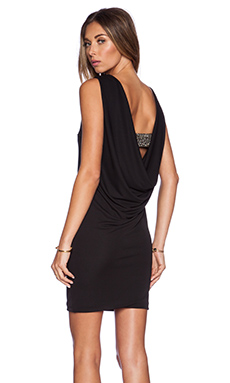Eight Sixty Drape Back Dress in Black
