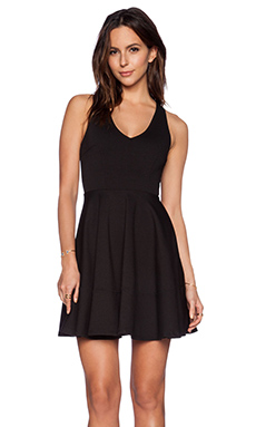 Eight Sixty Fit & Flare Dress in Black